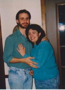 Our engagement photo.  March, 1990