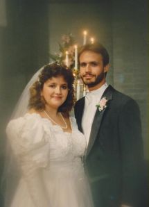 Wedding day, 22 June, 1991
