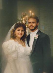 Wedding day, 22 June, 1991